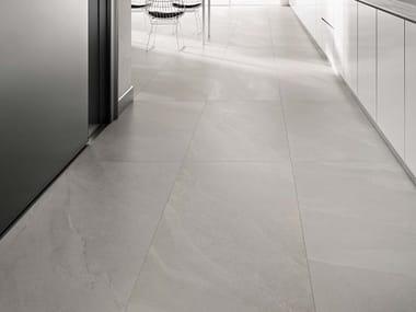 Pavimento/rivestimento in gres porcellanato effetto pietra per interni ed esterni ASHIMA W