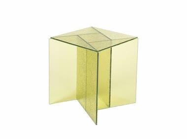 Square glass coffee table ASPA SMALL