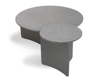 Low round cement coffee table ASPIC | Coffee table