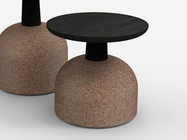 Tavolino basso rotondo in legno ASSEMBLAGE | Tavolino basso