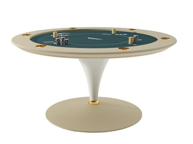 Round Poker Table Asso Luxury Entertainment Collection By Vismara Design