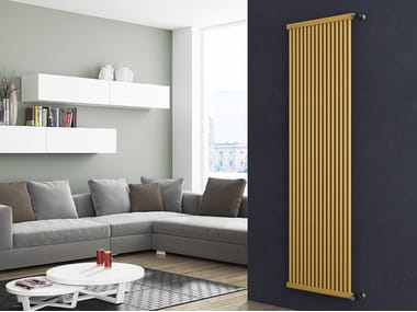 Vertical wall-mounted metal decorative radiator ASTRA