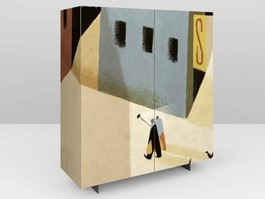 Lacquered wooden highboard SELFIE   Lacquered highboard