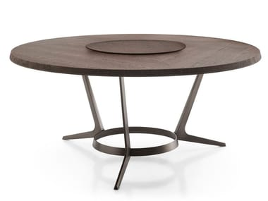 Round wooden living room table ASTRUM | Round table