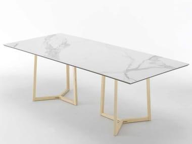 Tavolo rettangolare in marmo ASTYLE | Tavolo in marmo