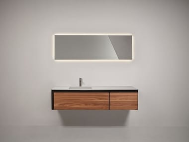 Sectional wall-mounted vanity unit ATELIER