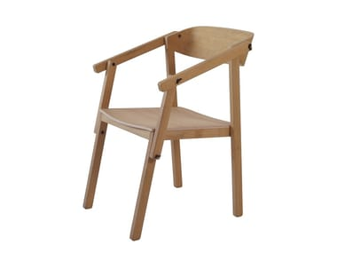 Oak chair with armrests ATELIER | Oak chair