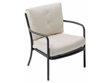 Garden easy chair with armrests ATHENA | Easy chair with armrests