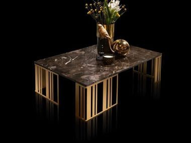 Low rectangular marble coffee table ATMOSFERA | Low coffee table