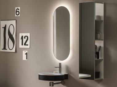 Espelho oval com luzes integradas de parede ATOLLO | Espelho oval
