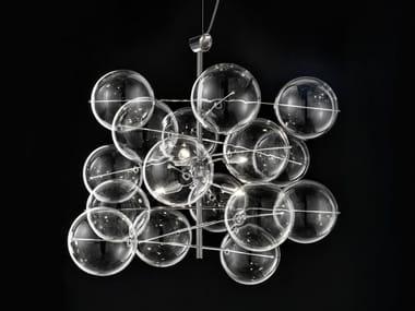 Crystal pendant lamp ATOM Ø 60