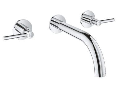 3 hole wall-mounted washbasin tap with individual rosettes ATRIO NEW - SIZE S | 3 hole washbasin tap