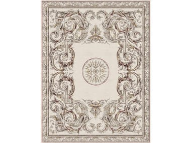 Handmade rectangular rug AUBUSSON HERALDY PALAIS ROYAL