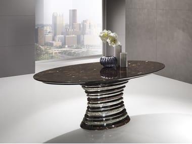 Oval Crystal Stone® table AURIGA | Oval table