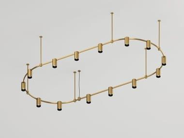 Illuminazione a binario a LED in ottone satinato AUROOM OVAL