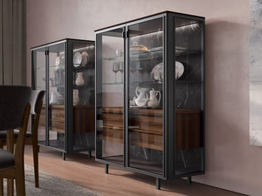 Wood and glass display cabinet AURORA 02 | Display cabinet