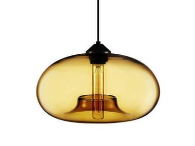 Direct light handmade blown glass pendant lamp AURORA
