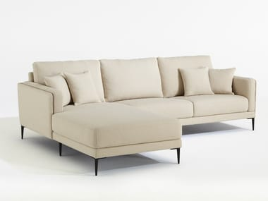 Fabric sofa with chaise longue AUTEUIL MERIDIENNE
