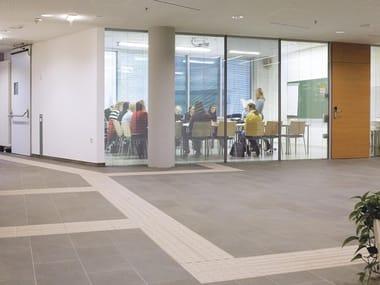 Pavimento in gres porcellanato per interni ed esterni AUTONOMY | Streifen A Serizzo