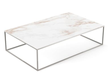 Low rectangular garden side table AUXILIAR | Rectangular coffee table