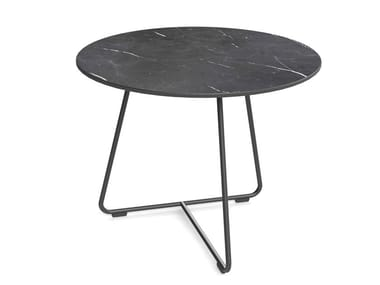Round metal coffee table and HPL top AVERIO | HPL coffee table