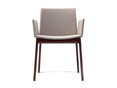 Fabric chair with armrests AVA 646N