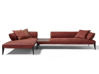 Sectional sofa with integrated coffee table AVENUE