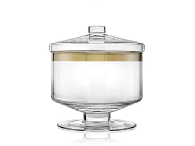 Glass food-storage box AVENUE GOLD 20,5CM