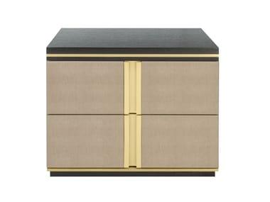 Comodino rettangolare in legno con cassetti AVIGNON | Comodino