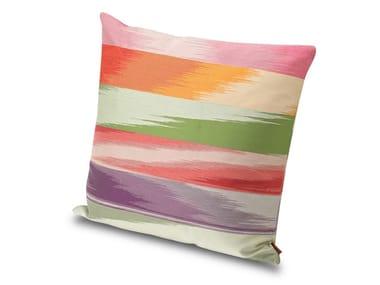 Cuscino in tessuto jacquard fiammato misto cotone AVIGNON