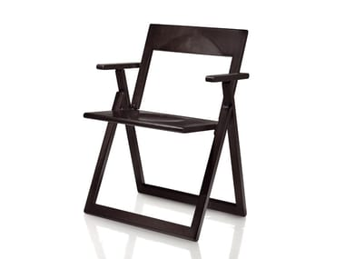 Sedia pieghevole in legno massello con braccioli AVIVA   Sedia con braccioli