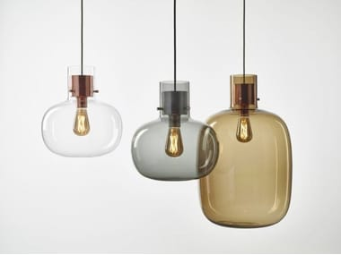 Blown glass pendant lamp AWA