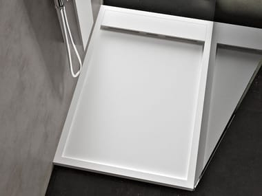 Anti-slip rectangular shower tray AXEL
