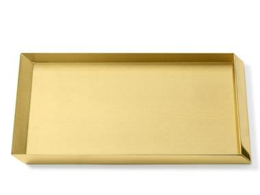 Brass desk tray organizer AXONOMETRY | Brass desk tray organizer