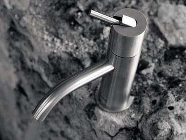 Miscelatore per lavabo da piano monocomando in acciaio inox AYATI | Miscelatore per lavabo da piano