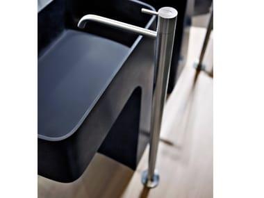 Floor standing single handle stainless steel washbasin mixer AYATI | Floor standing washbasin mixer