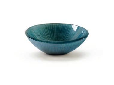 Glass serving bowl BOWL AZUL