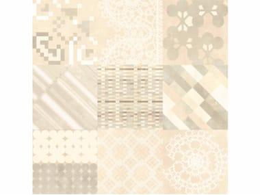 Glazed stoneware wall/floor tiles AZULEJ BIANCO COMBINATION