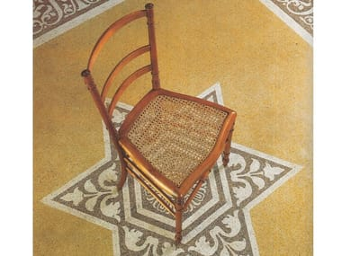 Open back cherry wood chair with footrest B 0992   Chair