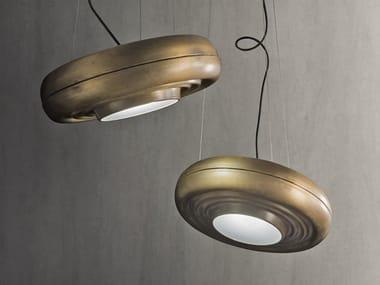 LED adjustable brass pendant lamp B-SHELL