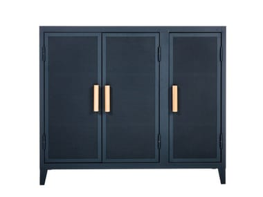 Metal highboard with doors B3 LOW PERFORATED
