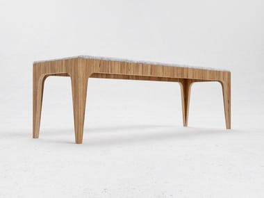 Wood veneer bench seating B3