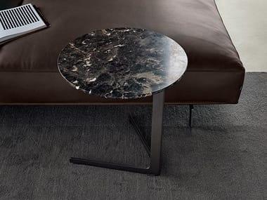 Mesa de apoio redonda de mármore BABA | Mesa de centro de mármore