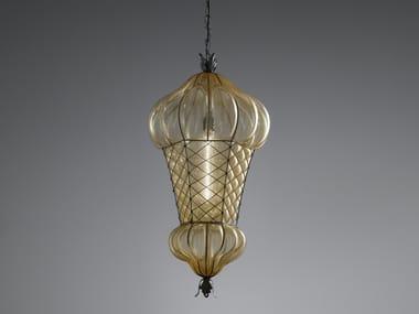 Lampada a sospensione in vetro di Murano BABÀ MS/ES 105