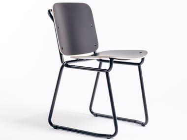 Sled base chair BABYLONE 01