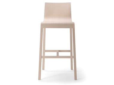 High solid wood stool BACK STOOL