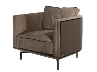 Fabric armchair with armrests BACKSTAGE | Armchair