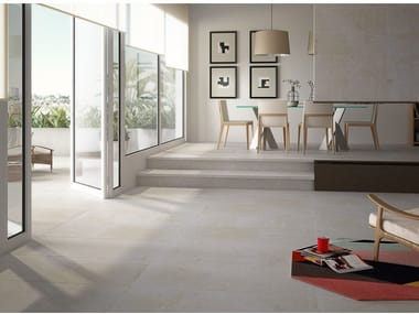 Porcelain flooring with concrete effect BAFFIN