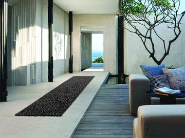 Handmade rectangular rug BAHAMAS