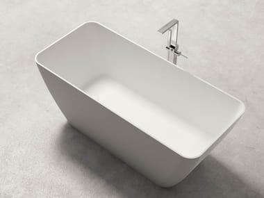 Vasca da bagno centro stanza rettangolare in Kstone BAHIA
